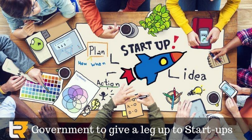 governmen to give a leg up to start-ups