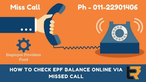 how to check EPF balance online via missed call