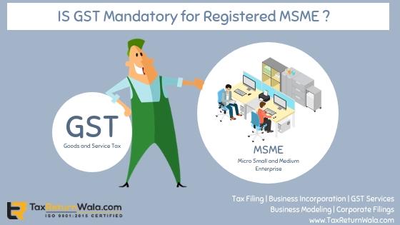 msme, gst, gst for msme, msme gst registration, taxreturnwala