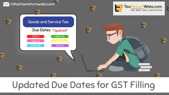 updated gst filling due dates, gst.gov, changed gst due dates , taxreturnwala, gstwala, gst file online, itc credit clain taxreturnwala