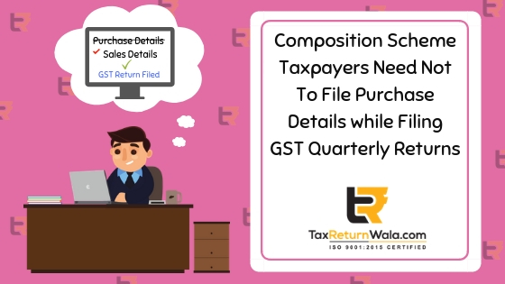 Composition Scheme Taxpayers Need Not To File Purchase