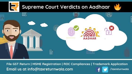 aadhar news update, taxreturnwala income tax filling online, msme registration, cleartax, payment of tax, tax issues , tax experts online , udyog adhaar registration