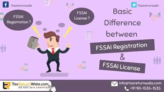 fssai registration and fssai license , fssai license, fssai registration,taxreturnwala, online tax filling, msme registration, gst payment online , gst audit 2018