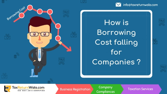 company borrowing cost falling, company registration cost , company act compliances online, , taxreturnwala
