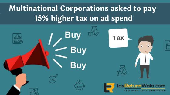 AMP tax ,mnc unit tax on ad spent, mnc tax notice, tax on advertisment multinational, taxreturnwala, , gst mnc, mnc registration in India