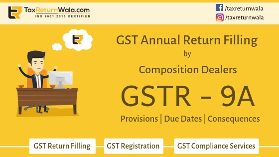 Filling of GSTR 9A Annual Return for Composition Dealers operators
