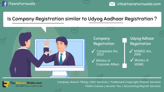Is Compny Registration Similar to Udyog Aadhaar Registration