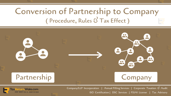 conversion of partnership firm to company